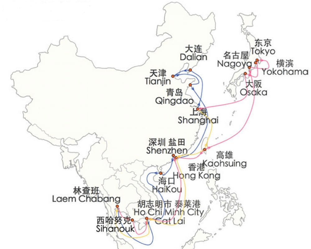 shipping routes china